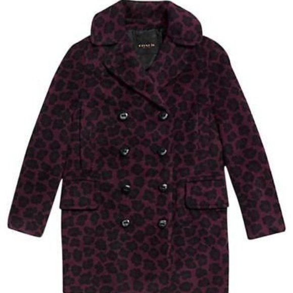Coach Jackets & Blazers - 🐆 COACH Cranberry and black leopard print 🐆